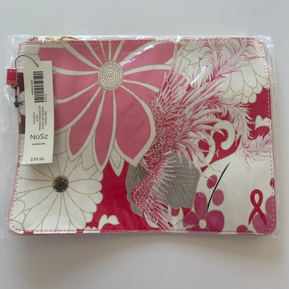Chico's Handbags - NWT Breast Cancer Awareness Wristlet Pouch